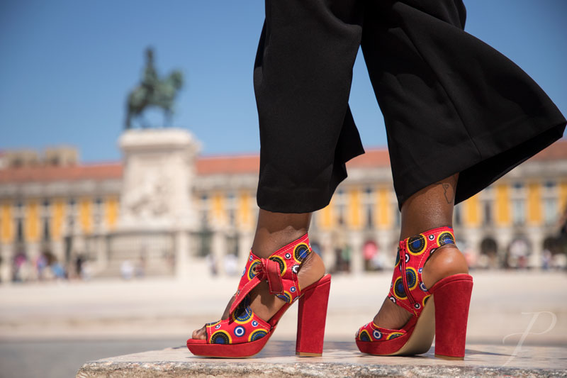 model-african-lisbon-fashion-shoes-city-architecture-red